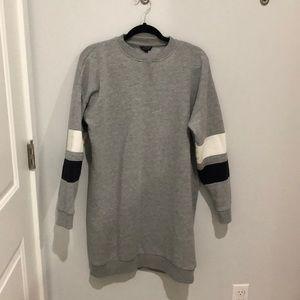 Topshop Varsity Sweatshirt Dress
